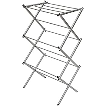 Storagemaniac 3 Tier Folding Water Resistant Compact Steel Clothes Drying Rack 22 44x14