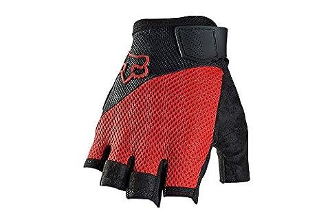 Fox Men's Reflex Gel Shorts Gloves, Red, Medium