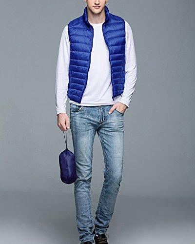 Ultra Homme Doudoune Manches Saphir Bleu Sans Legere Chaud Veste Manteaux qPg5wXI0In