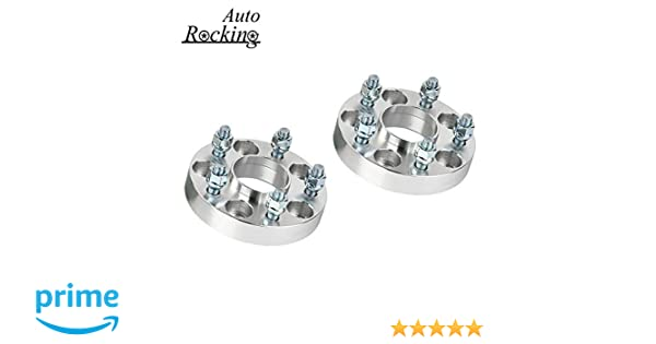 AutoRocking 4pcs 5x4.5 to 5x4.5 1 Thickness 5 Lug Wheel Spacers Adapters 12x1.25 Studs 66.1mm Hub Bore for Infiniti Nissan 5x114.3mm to 5x114.3mm