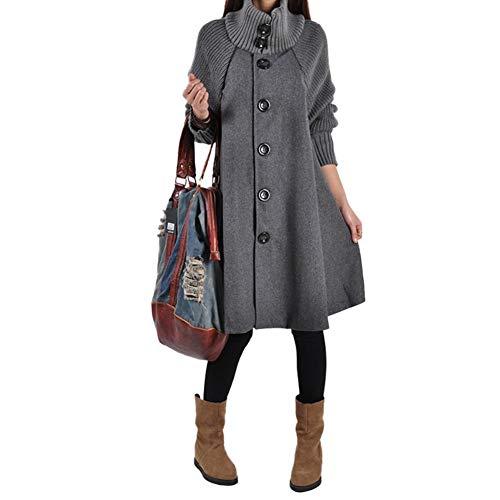 Laine coat En Trench Chaud Vrac Winter Woman Gris Warming Hifuture Coat Tricoté Manteau cOFZzW6qx