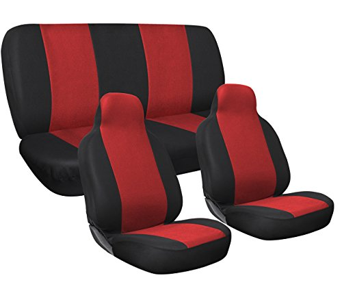 red and zebra car seat covers - 5