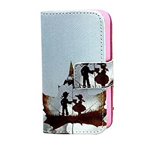 DD Maple Leaves PU Leather Full Body Case with Card Holder for iPhone 4/4S