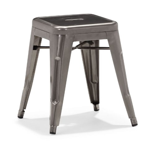 Zuo Set of 2 Marius Gunmetal Stools