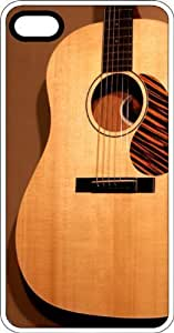 Acoustical Guitar Country Music Clear Rubber Case for Apple iPhone 4 or iPhone 4s