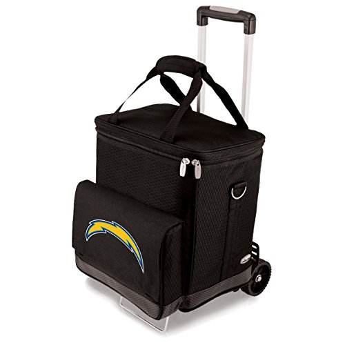 NFL  Los Angeles Chargers Insulated Cellar Six Bottle Wine Tote with Trolley by PICNIC TIME
