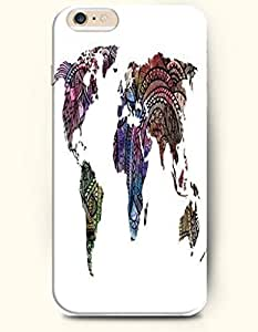 SevenArc Hard Phone Case for Apple iPhone 6 Plus ( iPhone 6 + )( 5.5 inches) - Aztec Pattern World Map - Oil Painting...