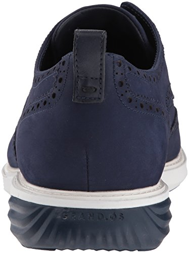 Cole Haan Men's GrandEvOlution Shortwing Oxford, Marine Blue Nubuck/Optic White-Marine Blue, 8 Medium US