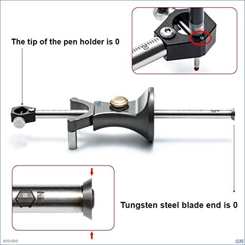 XHUENG Useful 2 In 1 Line Circular Scriber Fine-tuning Woodworking Parallel Drawing Line Ruler Automatic Line Drawing Tool Dedicated Tool (Color : Scriber) Scriber