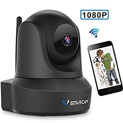VSTARCAM 1080P HD Dome Camera,Two-Way Audio,Pan/Tilt/Zoom,Motion Detection,WiFi,Cloud Storage Home Security Camera,Premium Night Vision Surveillance Remote Control Monitoring Cam,Support 128GB Card from VSTARCAM