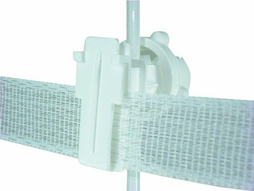 (Field Guardian Round Post Polytape Screw-On Insulator, 2-Inch, White)