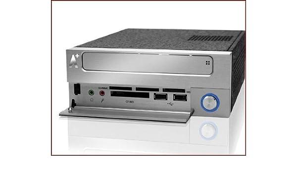 AplusCase CS-Cupid 1 Carcasa de Ordenador - Caja de Ordenador (HTPC, PC, Aluminio, 90W, 18,5 cm, 25,5 cm) Negro, Plata: Amazon.es: Informática