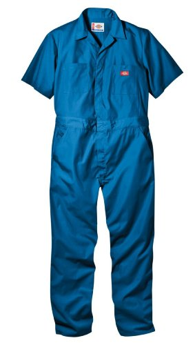 Dickies Men's Short Sleeve Coverall, Medium Blue, X-Large Tall -