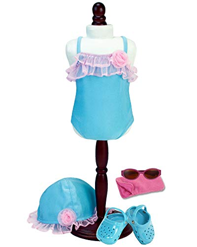 - Sophia's 15 Inch Baby Doll Beach or Pool Set | Includes Baby Doll Swimsuit, Hat, Doll Shoes, Sunglasses and Case