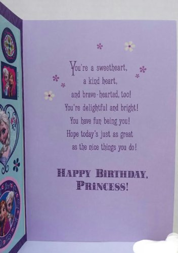 Greeting card disney frozen quot birthday girl quot today s your day with