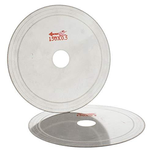 1 lot 2Pcs 6 inch 150 mm Super-Thin Diamond Saw Blade Lapidary Cutting Disc 0.6 Rim ILOVETOOL