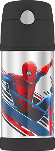 Thermos F4016SP6 12 OZ Bottle, 12 Ounce, Spiderman (Thermos With Straw 12 Oz)