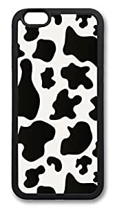 iphone 6 4.7inch Case and Cover Cow Spots TPU Silicone Rubber Case Cover for iphone 6 4.7inch Black