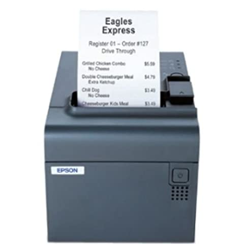 Epson C31C412A8531 TM-L90 Thermal Label Printer, Ethernet Interface, With Label Software CD and Power Supply, Dark (Epson L90)