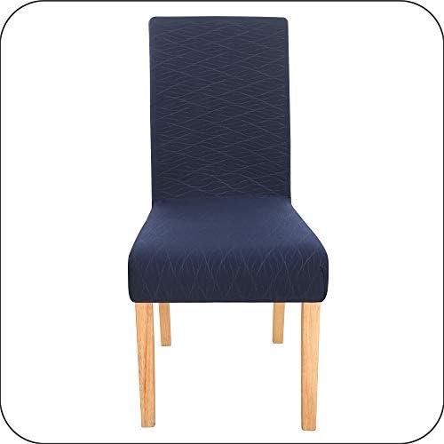 AmazonmerkUmi Wave Line Parttern zijdeachtige afneembare stoel slipcover wasbaar spandex stoelhoezen stretch stoelbekleding stoel stoel stoel beschermer voor eetkamer marineblauw set van 4