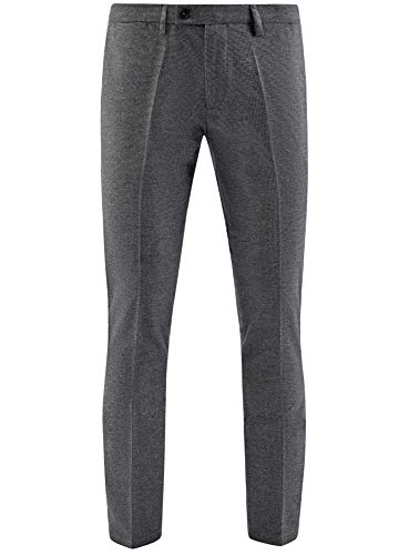 Con Fit Grigio Slim Ultra 2529g Pantaloni Motivo Microgeometrico Uomo Oodji qZU7xwXa
