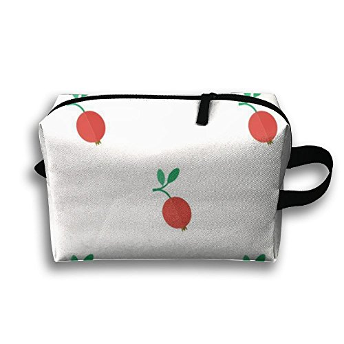 Oxford Cranberry (Bxsnd Cute Cranberry Fruits Unisex Oxford Cosmetic Bag Cute Travel Zipper Pouch Travel Cosmetic Pouch)