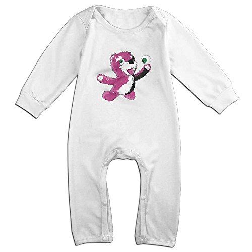 [Raymond Breaking Bear Long Sleeve Bodysuit Baby Onesie White 12 Months] (Infant Sylvester Costumes)