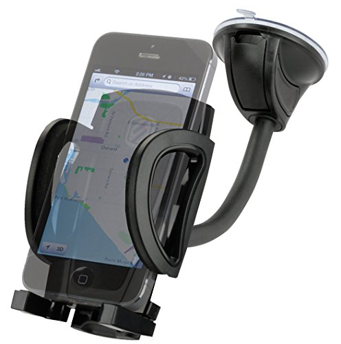 SCOSCHE IHW10 STUCKUP Universal 4-in-1 Smartphone/GPS Suction Cup/Vent Mount Kit for the Car, Home or Office - 4in Phone