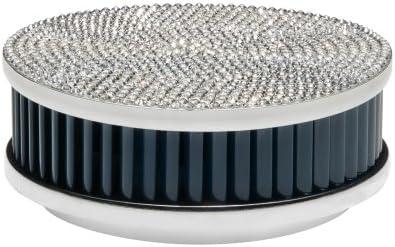 Pyrexx PX-1_Ar_brill_bl_mar_Swarovski - Detector de humo (tamaño: 10 cm) color Plateado