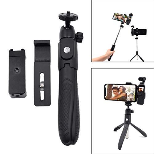 - Iusun for DJI Osmo Pocket Handheld Selfie Stick Smartphone Gimbal Stabilizer Compact Lightweight Aluminum Tripod Universal Holder Base Set Camera Screw Bracket Accessories Travel Work (Black)
