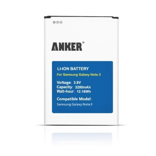 Anker 3200mAh Li-ion Battery for Samsung Galaxy NOTE - Cell Phone Note 3 For At&t