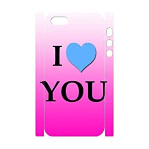 3D I love you the For Iphone 5/5S Phone Case Cover White
