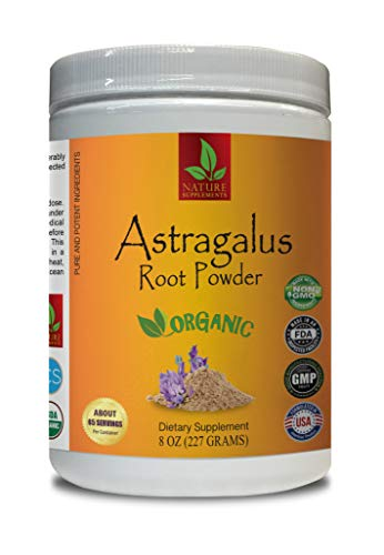 antioxidant Powder Supplement - Astragalus Root Organic Powder - Pure and Potent Ingredients - Astragalus Extract Powder - 1 Can 8 OZ (65 Servings)