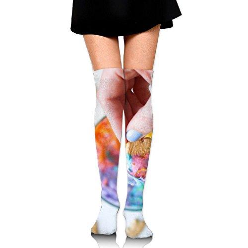 3D Printing Graffiti Knee High Socks Adult Unisex Pic Rainbow Stockings Socks Long Colorful For Man And Woman Leg - Pics Teen Glasses
