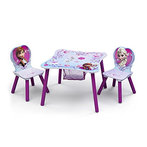 Disney Frozen Multicolored Wood/Metal/Polyester Blend Table and Chair Set with Storage by Delta