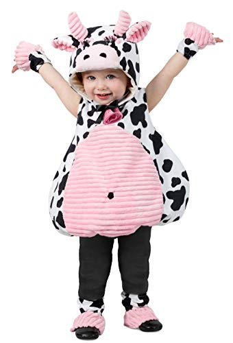 Baby In Cow Costume (Princess Paradise Pink Belly Cow Baby Costume, As Shown, 6-12)