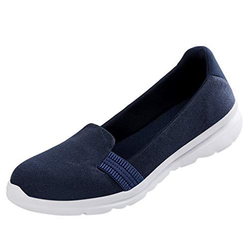 Deloito Damen Mode Freizeit Wander Schuhe Mutter Flacher Mund Leichte Laufschuhe Mesh-Schuhe Dickbesohlte Schaukelschuhe Schüler Arbeitende Turnschuhe