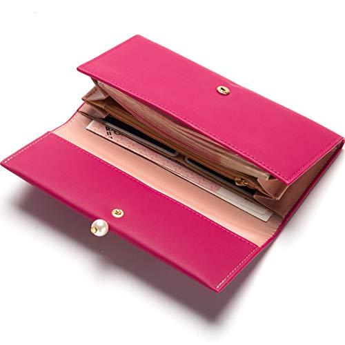Gray Grigio Chiaro Portafogli Fucsia Pink Sacchetti PU Cerniera Per Donna Chiaro Viola aPSwqq