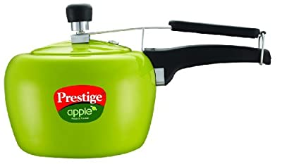 Prestige Apple Aluminum Green Color Pressure Cooker, 5-Liter from Prestige