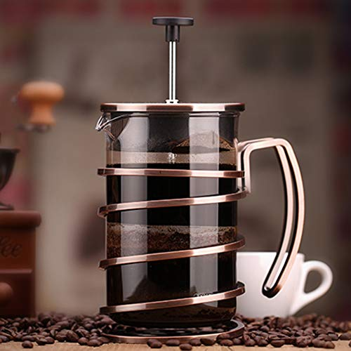 Coffee Pot Tea Pot Coffee Kettle Espresso Coffee Maker Coffee Machine French Coffee Press Glass Household Stainless Steel Filter Pressure GAOFENG (Color : Ancient Copper, Size : 800ml) by GAOFENG-coffee pot (Image #2)