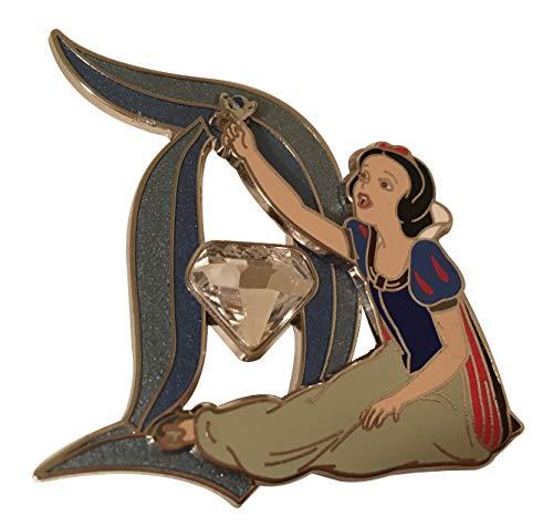 Disneyland 60th Diamond Anniversary Snow White with Diamond In D Trading Pin (Disney Anniversary 60th Pin)