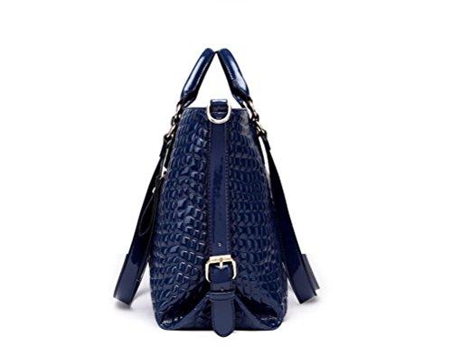 Bolso Single Nuevo La Hombro Simple Moda Inclinada Dama Blue De GWQGZ Negro Bolsa 8wR5USxwq