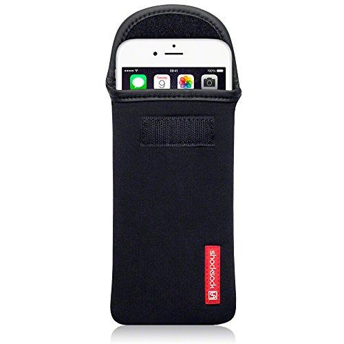 Black Neoprene Cell Phone Pouch - 1
