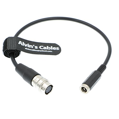 Alvin's Cables 12 Pin Hirose to DC 12v Female Cable for GH4 Power B4 2/3