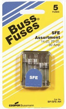 Buss Auto Sfe-Ah Assortment Fuses 24 V 5 / Carded by Cooper Bussmann (Carded Assortment)