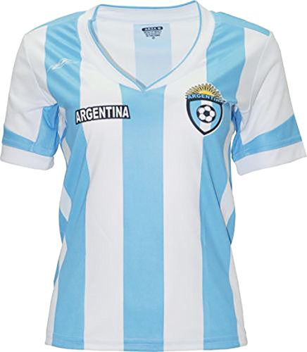 Argentina New Arza Women Jersey Blue White 100% Polyester (Small)