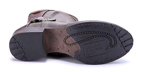 Schuhtempel24 Damen Schuhe Klassische Stiefeletten Stiefel Boots Blockabsatz 4 cm Braun