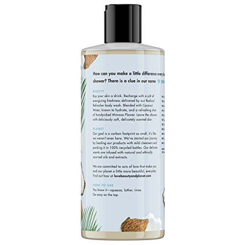 Love Beauty And Planet Body Wash and Cleansing Mist Coconut Water & Mimosa Flower 2 count
