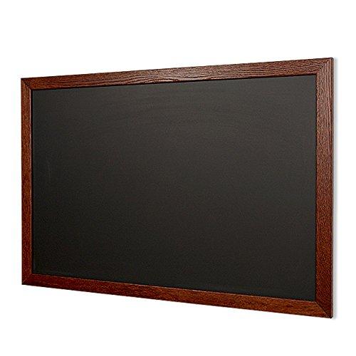 Oak Stained Dark Walnut Framed 30''h x 42''w Black Lastoplate Chalkboard by New York Blackboard