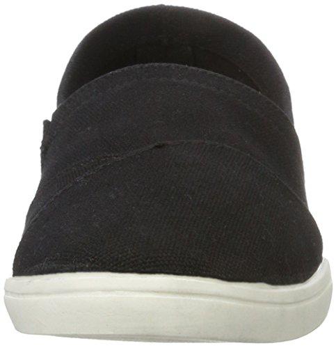 black Espadrillas 49375 Espadrilles Bianco 10 Textile Donna 25 Nero q0FHpwI